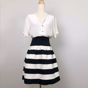 Anthropologie Girls from Savoy black & white Skirt